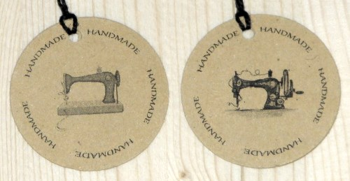 картонные двойные крафт-бирки для шитья HANDMADE
