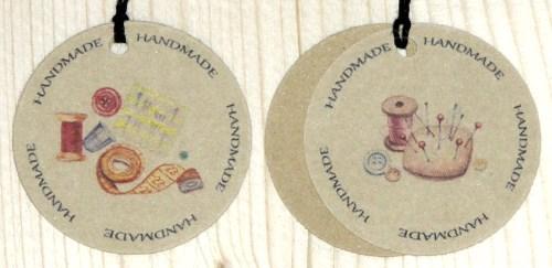 цветные бирки для шитья HANDMADE