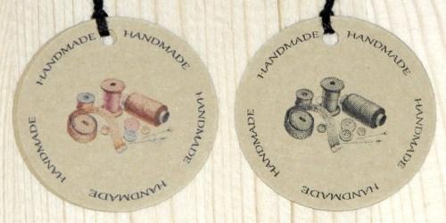 картонные бирки для шитья HANDMADE
