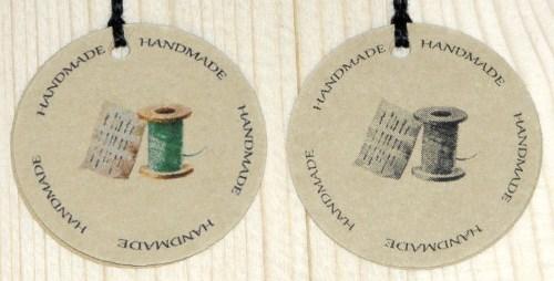 круглые крафт-бирки для шитья HANDMADE