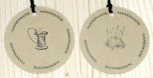 круглые бирки из картона крафт для шитья HANDMADE