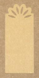 крафт-бирка с прорезным узором, из коричневого картона