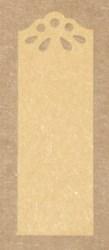 узкие крафт-бирки из картона с узором
