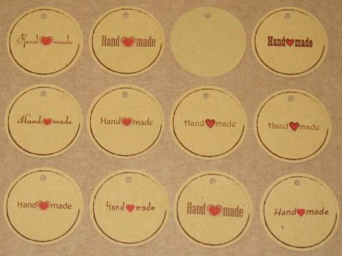 3. Набор бирок HM №3 (33-35 шт, тёмный крафт-картон)