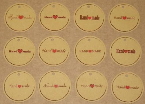 крафт-бирки handmade (крафт-картон)