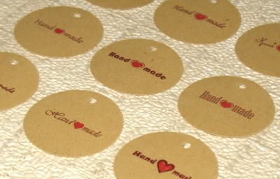 бирки Handmade для товаров ручной работы