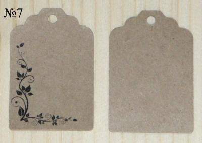 крафт бирки с цветочным орнаментом