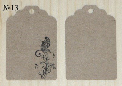 ярлычки из крафт-картона с бабочкой