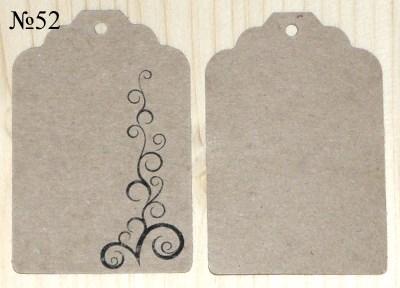 Крафт-бирки с орнаментами, ярлыки из бумаги крафт с узором
