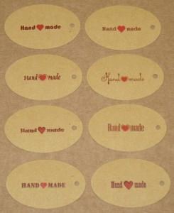 овальные крафт-бирки Handmade
