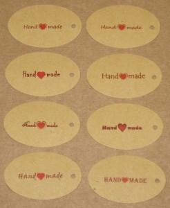 овальные бирки Handmade из крафт-картона