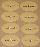 21. бирки Handmade с бесцветными круглыми стразами 6 мм (23-25 шт = 100 руб)