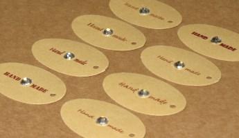 бирки Handmade с бесцветными круглыми стразами / фото бирки