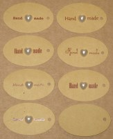 23. бирки Handmade с белыми сердечками (23-25 шт = 100 руб)