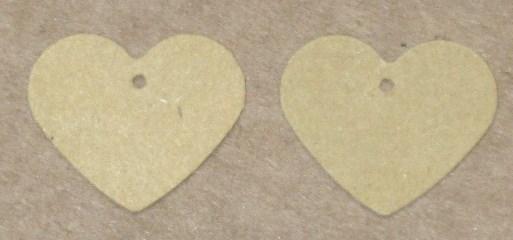 Маленькие бирки-сердечки (23 мм) / бирка для изделий ручной работы / фото бирок