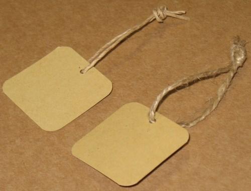 квадратные бирки из крафт-картона 4*4 см, фото бирок