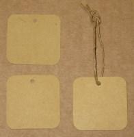 бирки из крафт-картона квадратные 4*4 см / фото бирок