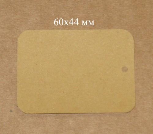 бирки из крафт-картона прямоугольные 60х44мм / фото бирок