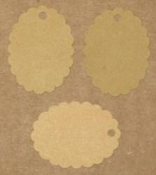 Бирки для изделий ручной работы из светлого и тёмного крафт-картона (набор 50 шт) / фото крафт-бирок