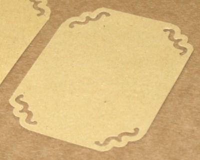 Прямоугольные бирки-этикетки из крафт-картона с узором (набор 10 шт)