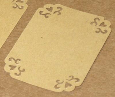 бирки-этикетки из крафт-картона для товаров