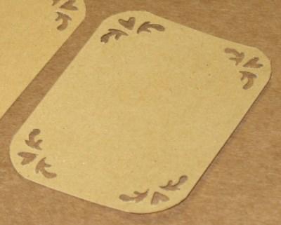 Стильные бирки-этикетки из картона крафт для упаковки товара ручной работы