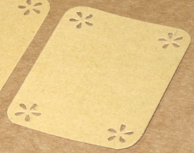 бирки-этикетки из крафт-картона с узором (лот 10 шт)