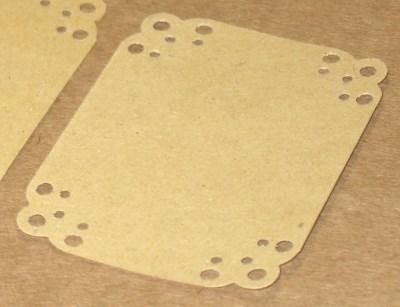 крафт бирки-этикетки из крафт-картона с узором