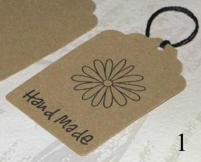 №1. ярлычки Handmade с цветком