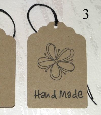 ярлыки Handmade из картона крафт