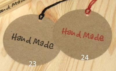 круглые крафт-бирки Handmade из крафт-картона