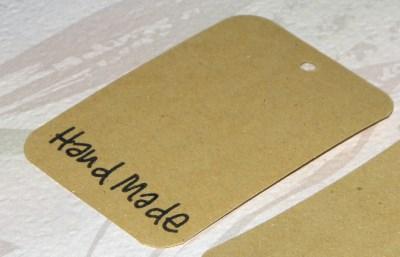 крафт-бирки Hand made из тонкого светлого картона
