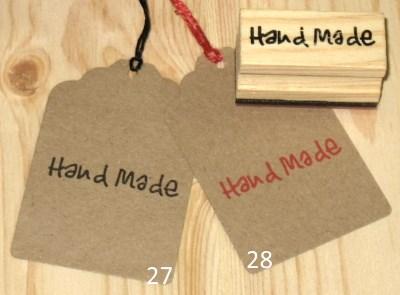 картонные бирки-крафт Handmade коричневые