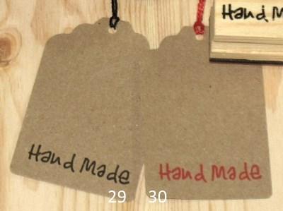 крафт-бирки с надписью Handmade из картона