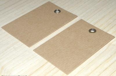 крафт-бирки с люверсами / лицевая и оборотная сторона 2-стороннего люверса