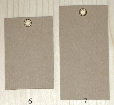картонныке крафт-бирки 4*6 и 4*8 см с золотыми 2-сторонними люверсами