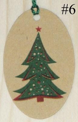 Бирки Ёлочка со звездой из крафт-картона