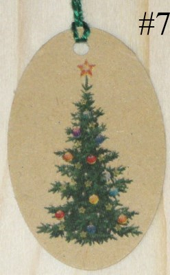 Бирки новогодняя Ёлочка из крафт-картона
