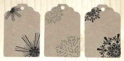 14 бирок из картона крафт для товаров и подарков для нового года
