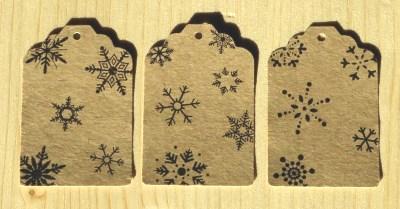 фото: набор бирок из крафт-картона, для нового года
