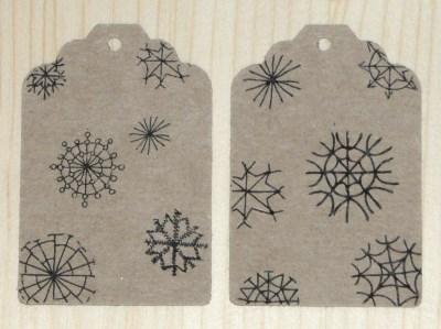 фото бирок из картона крафт, для нового года и рождества, размер 68*45 мм
