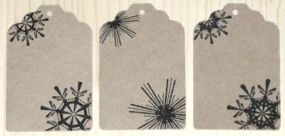 бирки со снежинками, из картона крафт, для украшения товаров, сувениров и подарков на новый год