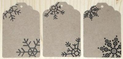 картонные бирки с узором снежинка, из крафт-бумаги, для стилизации упаковки новогодних товаров, сувениров, подарков