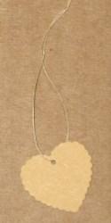 Картонные бирки для изделий ручной работы, форма - сердечки, с волнистым краем / фото бирок-крафт