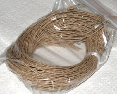 комплект верёвочек для бирок из бумажного шпагата