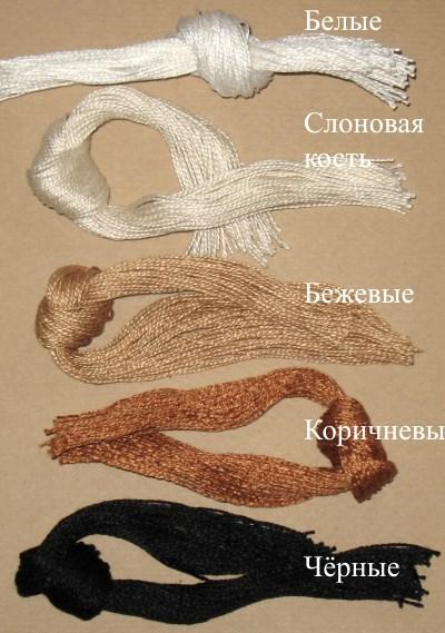 нитки для бирок (50 шт, 30 см), хлопковые
