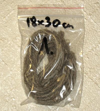 верёвочки для бирок из льняного шпагата, упаковка 18 шт, длина 30 см