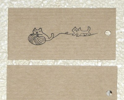 крафт-бирки для вязания