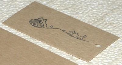 бирки для вязания из крафт-картона