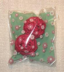 фото целлофановые пакеты с декоративными шариками из ротанга